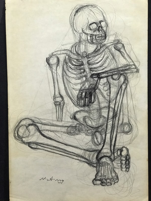 Nonchalant Skeleton Checking Out the Others by Michael Newberry