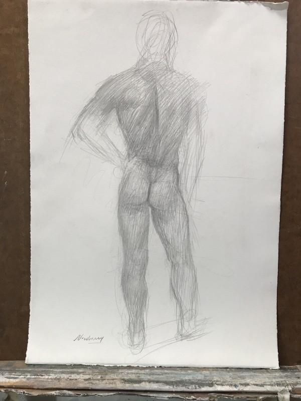 Adam study 2 by Michael Newberry