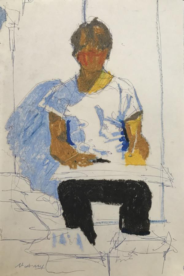 Self-Portrait 1977 by Michael Newberry