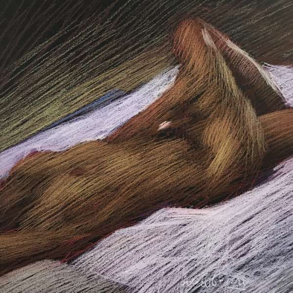 Nude Reclining on the Diagonal by Michael Newberry