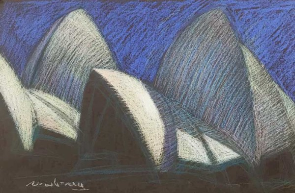 Sydney Opera House View from the Botanical Gardens by Michael Newberry