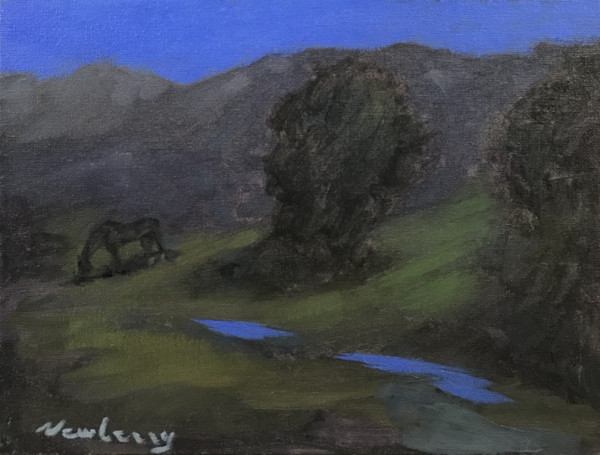 "Newberry, Teton Twilight, 2020, oil, 9x12"" by Michael Newberry"