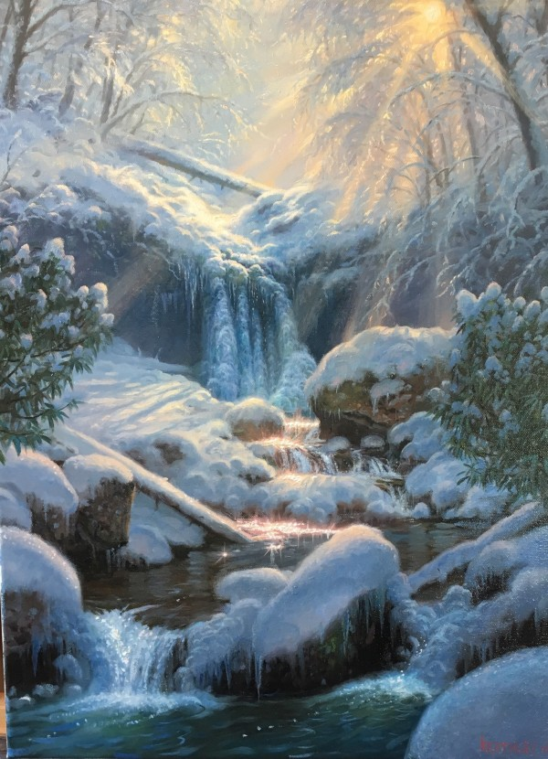 Mystic falls- winter by Mark Keathley