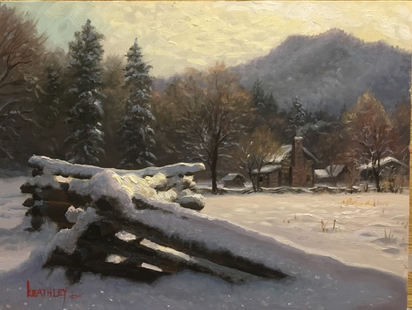 Winter In Cades Cove by Mark Keathley