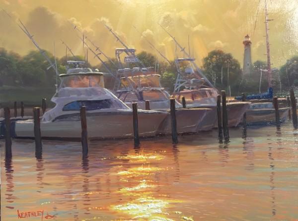 Harbor sunset by Mark Keathley