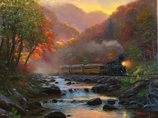 Smoky Morning - Train by Mark Keathley