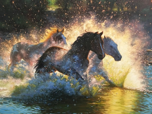 River dance by Mark Keathley