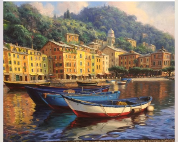 Boats of portifino by Mark Keathley
