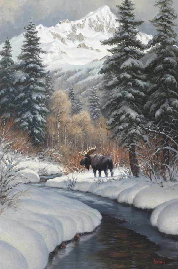 Winter Moose by Mark Keathley