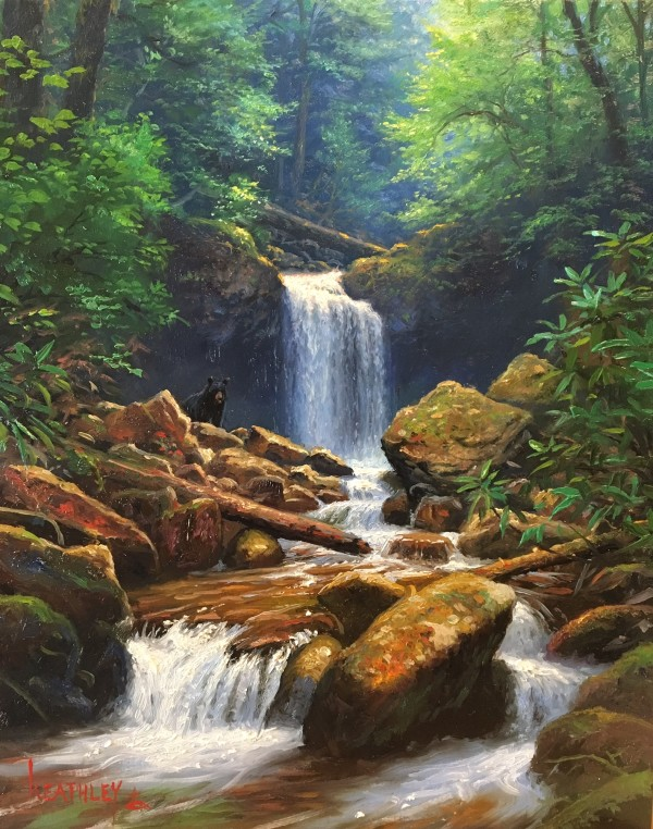 grotto falls by Mark Keathley