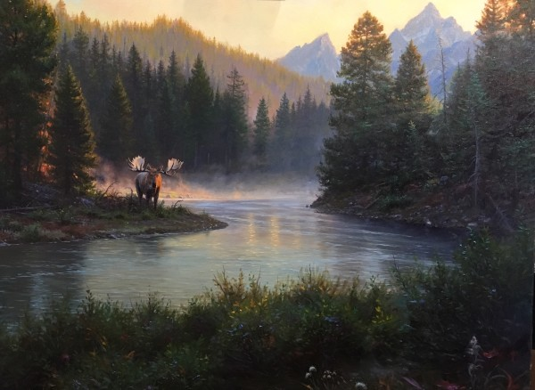 snake River Encounter by Mark Keathley