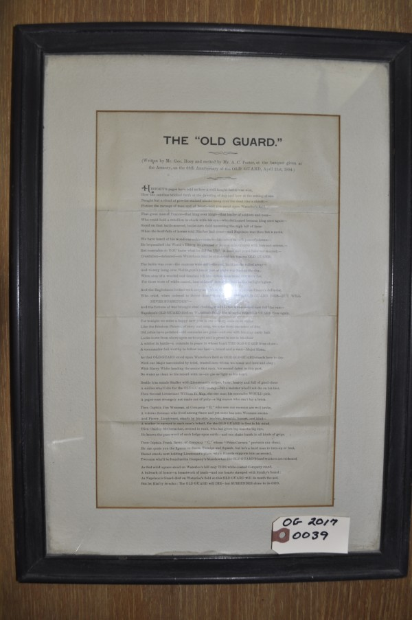 """THE """"OLD GUARD"""""""