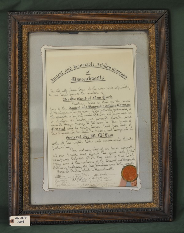 Order Promoting Major George W, McLean to the Rank of General