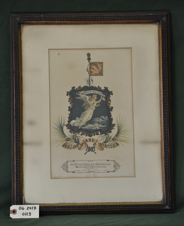 Seal of the Washington Light Infantry, Charleston, S.C. Presented to the Old Guard
