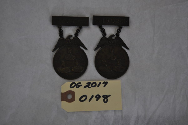 Two Old Guard Shooting Medals
