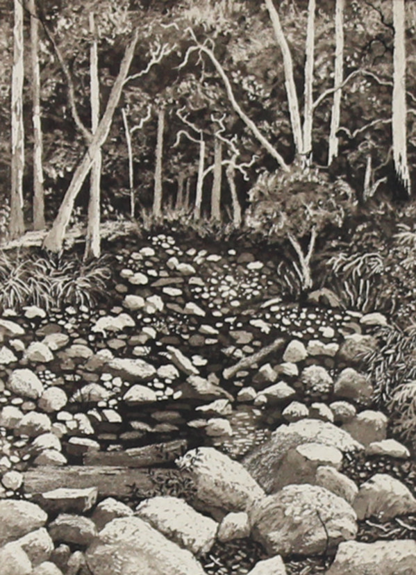 dry river bed by stephanie Jane Rampton