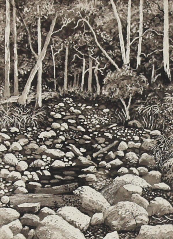 dry river bed by stephanie Jane Rampton