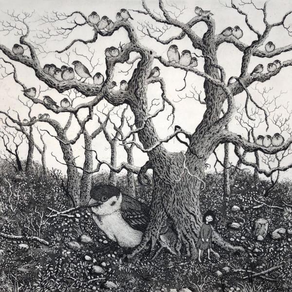 sparrow tree by stephanie Jane Rampton