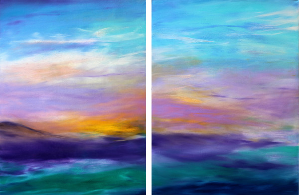 Tranquility (diptych) by Sheryl Tempchin