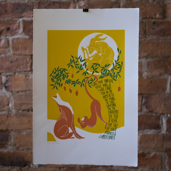 The Hare in the Moon by Lillias Kinsman-Blake