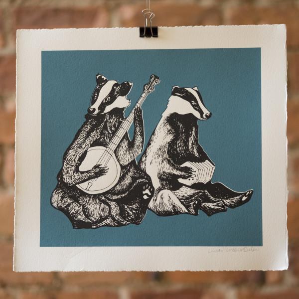 Dueling Badgers by Lillias Kinsman-Blake