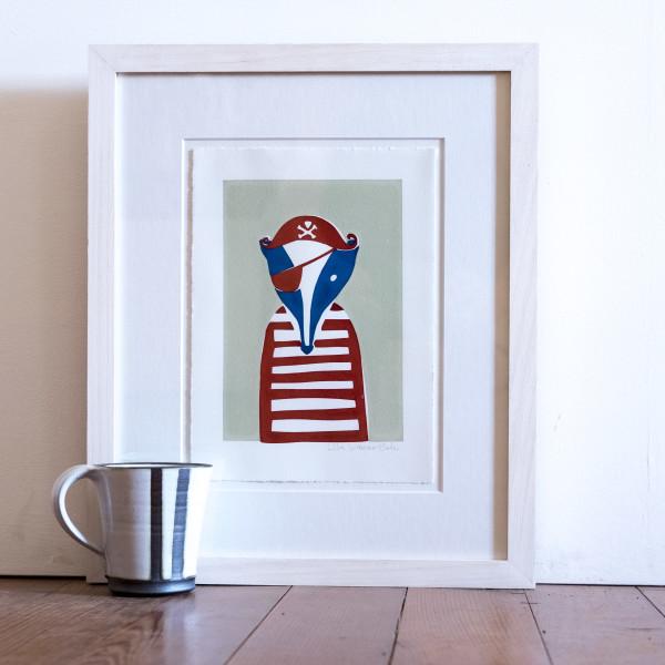 Jolly Badger (Framed) by Lillias Kinsman-Blake