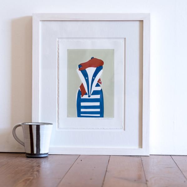 Monsieur Badger (Framed) by Lillias Kinsman-Blake