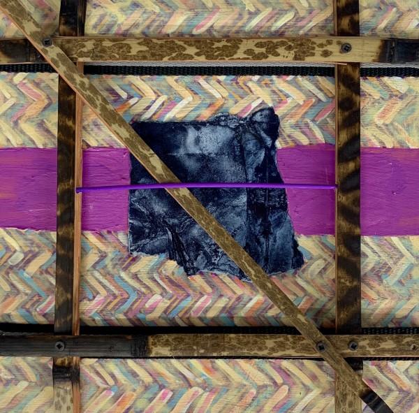 Untitled Purple Line by Alonzo Davis