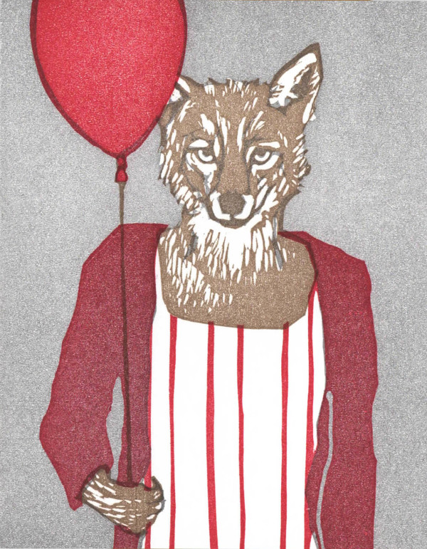 Red Balloon Coyote