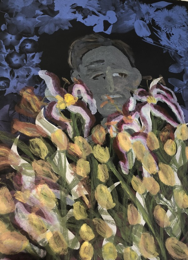 Abe Alive Among Lillies by Joyce Scott