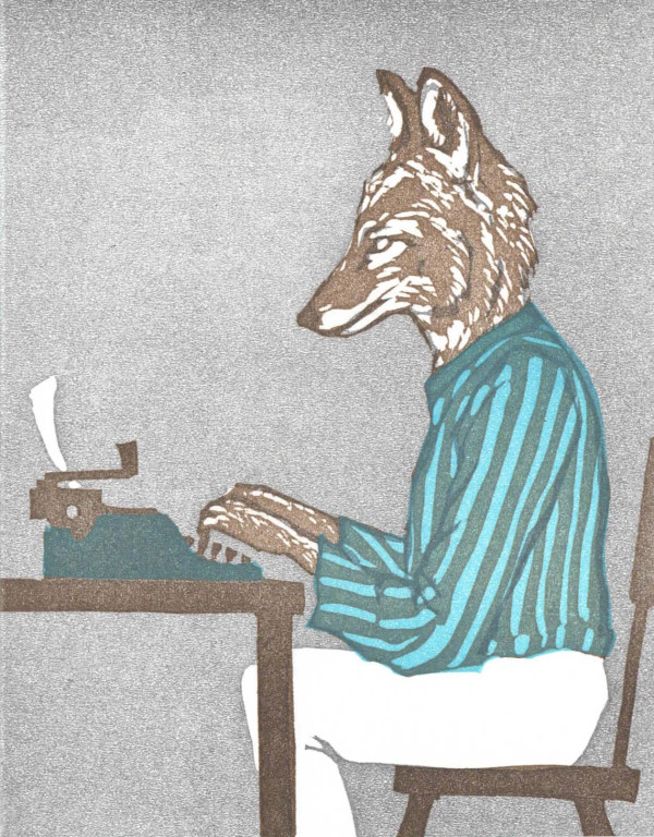 At the Typewriter Coyote
