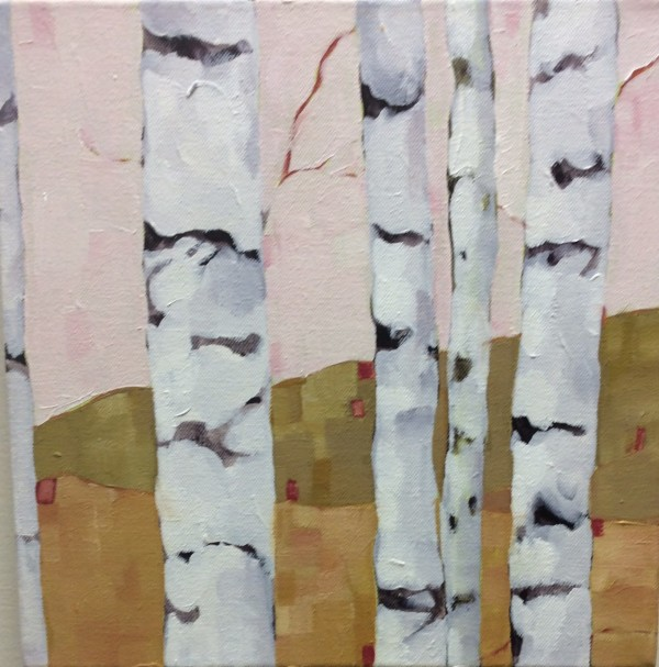 Birch Study Pink by Beth Munro