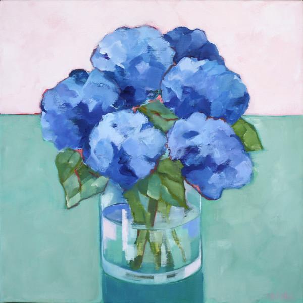 Hydrangeas Pale/PinkGreen by Beth Munro