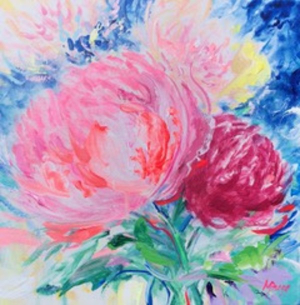 Peony Pizzazz 2 by Margaret Bragg