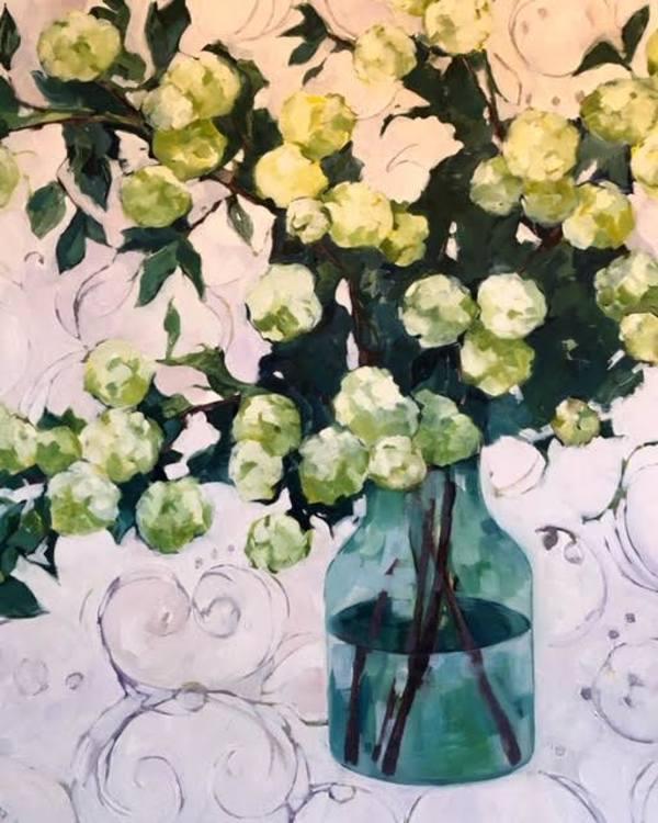 Hydrangea Study in Greens by Beth Munro