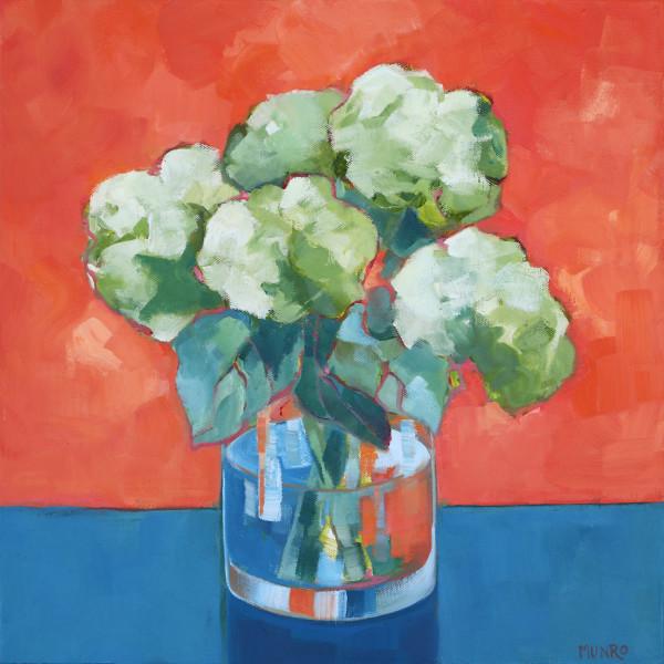 Hydrangeas Orange/Blue by Beth Munro