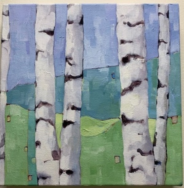 Birch Studies, Blue by Beth Munro