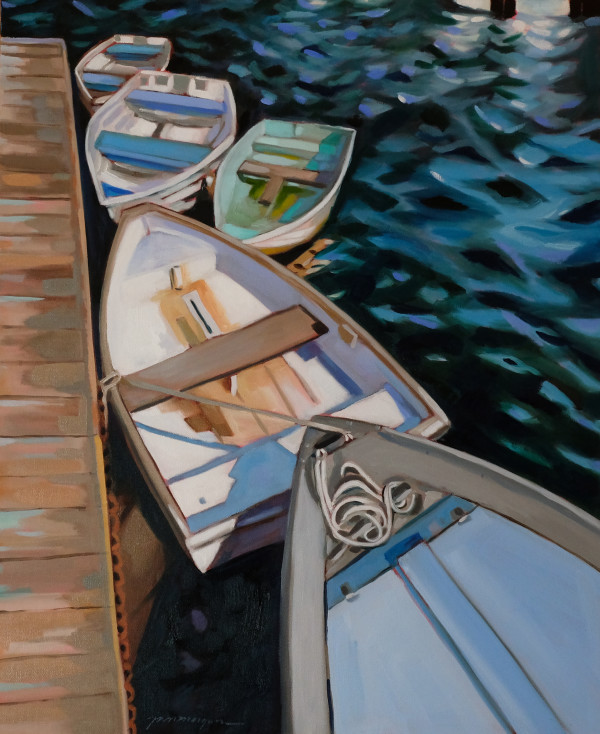 On the Dock Annisquam by Paula Morgan