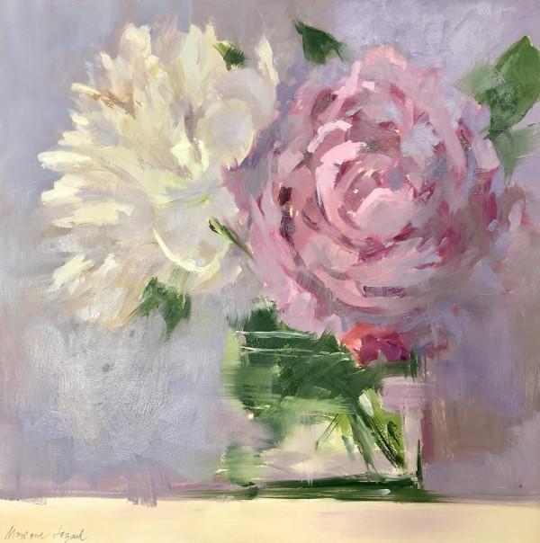 Pink & White Peonies by Monique Lazard