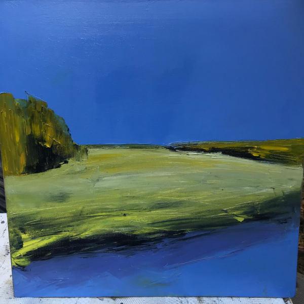 River Banks + Grasses by Janis Sanders