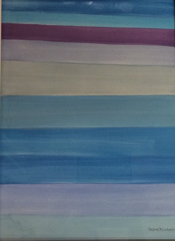 Sur La Plage - Blue - Purple Series by Melissa Steinhauser