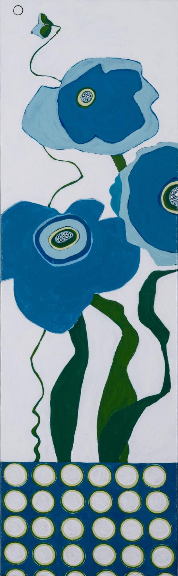 Blue Poppies from Home by Karen Tusinski
