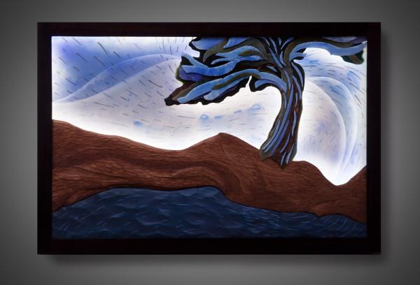 Moonlight Landscape by aaron d laux