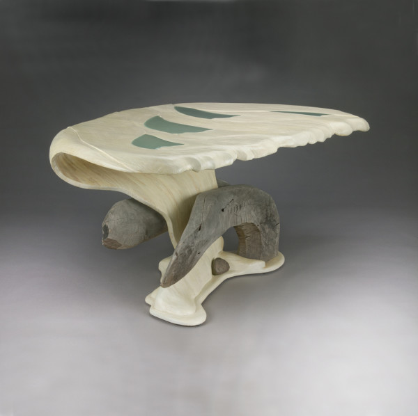 Oyster Shell Table by aaron d laux