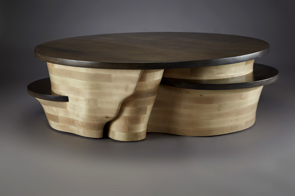 Kahn coffee table commission by aaron d laux