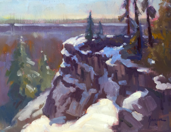 Snow on the Rim by Susan F Greaves