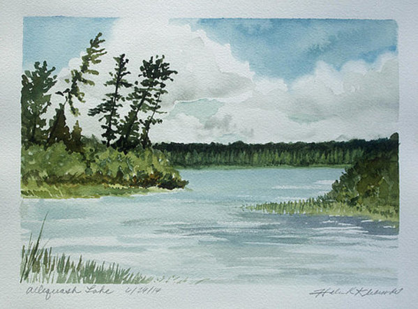 Allequash Lake by Helen R Klebesadel