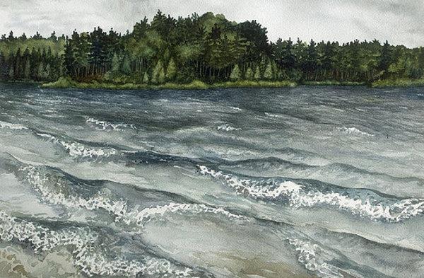 Big Muskallunge Lake  by Helen R Klebesadel