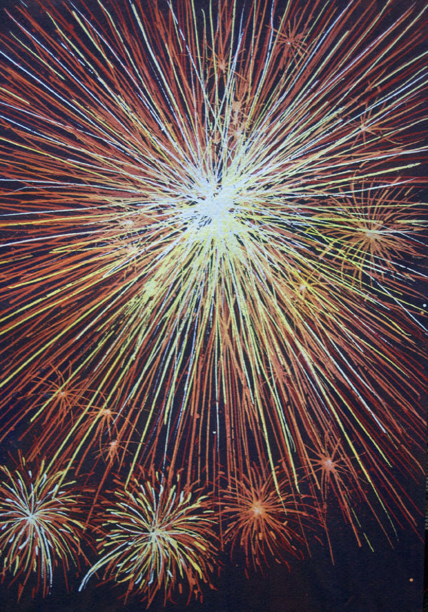Fireworks Study an original watercolor, 15 of 33 by Helen R Klebesadel