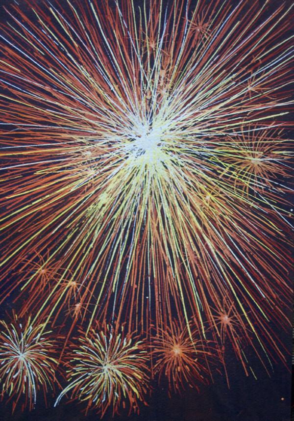 Fireworks Study an original watercolor, 15 of 33 by Helen R Klebesadel